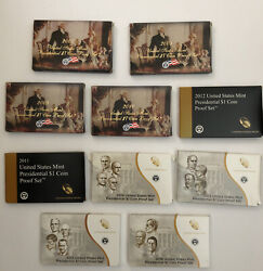 Us Mint Presidential 1 Coin Proof Sets W/ Ogp And Coa 2007-2016 S 39 Coins