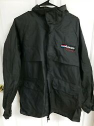 Vintage Amoco Racing Rain Jacket Pvc In New Shape.amazing Very Rare With Patches
