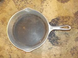 Griswold Cast Iron Skillet 6 Nickel Plate 699c