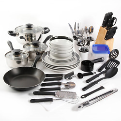 Gibson Home Kitchen In A Box 83-piece Combo Set Black
