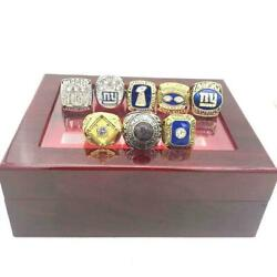 New York Giants 8 Ring Championship Ring Set Gift 2021 With Box