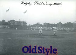 Chicago Cubs Wrigley Field Old Style Cardboard Ad Photo B And W Early 1930s 9x12