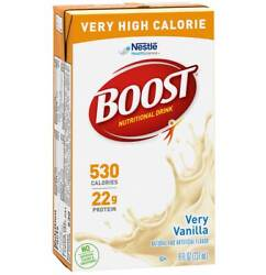 Boost Very High Calorie Nutritional Drink Very Vanilla - 8 Oz Andndash Pack Of 6