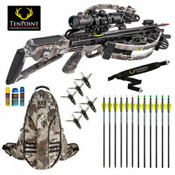 Tenpoint Siege Rs410 Crossbow Pro Package - Acuslide Crank 12 Arrows And More