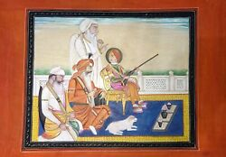 Maharaja Duleep Singh And With Labh Singh And Tej Singh And An Attendant Lahore