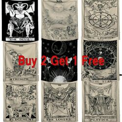 Tarot Card Tapestry Wall Hanging Astrology Divination Bedspread Art Home Decor
