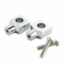 2x 1 25mm Motorcycle Universal Handlebar Riser Clamp Scooter Offroad Cafe Racer