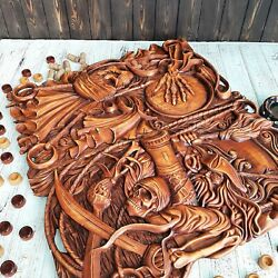 Backgammon Game Handmade Wood Carving Exclusive High Quality , Linden Material