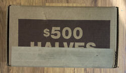Unopened, Unsearched Box Of Half Dollars, 50 Unsearched Half Dollar Coin Rolls