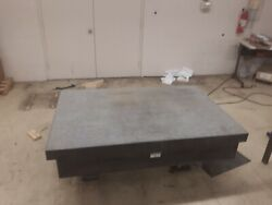 Rock Of Ages Granite Surface Plate 72x48x10 Black 6x4 .000308 5 Legs True G