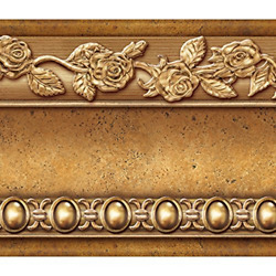 Flower Molding Peel and Stick Wall Border Easy to Apply Gold Brown