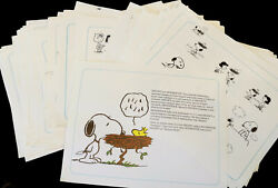 Peanuts 135 Licensee Reference Production Artwork Art Prints Proofs Snoopy Shulz
