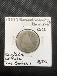 1888 S Seated Liberty Quarter Ag,key Date Within The Series