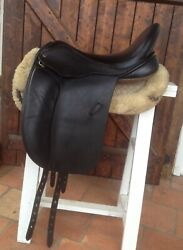 Black Country Eloquence Dressage Saddle 18 Wide / X-wide - Serge - Excellent
