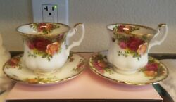 Royal Albert Old Country Roses 2 Tea Cups And Saucers
