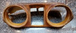 Mercedes W111 Coupe Cabriolet Instrument Cluster Wood Gauge Case Housing Used