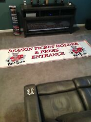 Albany River Rats Stadium Used Banner Times Union Center Albany N.y.