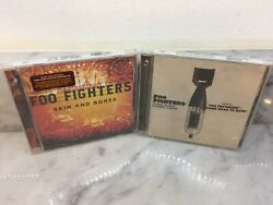 2 New Foo Fighters Cd's Echoes, Silence, Patience And Grace Plus Skin And Bones