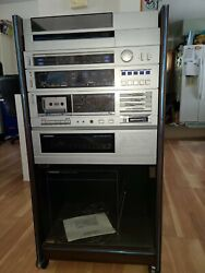 Vintage Soundesign Stereo System With Cabinet Untested