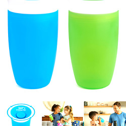 Munchkin Miracle 360 Sippy Cup Green/blue 10 Oz 2 Count