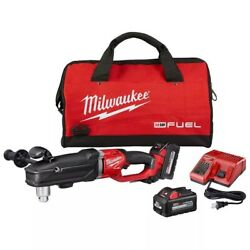 Milwaukee M18 Fuel 18v Li-ion Brushless Cordless 1/2 In. Right Angle Drill Kit
