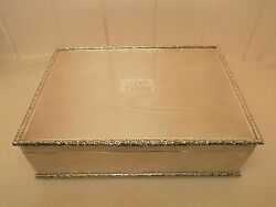 1.8 Kg Heavy Superb 1949 Mappin And Webb English Sterling Silver Box. Large.
