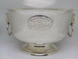 1kg 1910 Ackroyd Rhodes Antique English Silver Bradford Gun Club Trophy Bowl