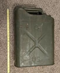 Antique Vtg Us Military C P And F Co. Jerry Gas Can 20 5 53 Icc-5l Vgc Real Deal