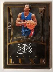 2014-15 Panini Luxe Spencer Dinwiddie Rookie Auto Gold Frame Sp /10 Nets