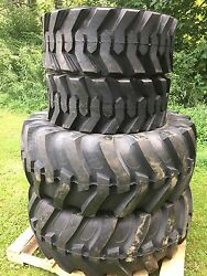 2 New 19.5l-24 And 2 14-17.5 Backhoe Tires R4 - 19.5lx24 - 4 Tire Combo
