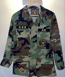 Madeworn Guns N Roses Ripstop Patches Distressed Army Camo Military M65 Jacket