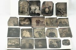 Antique Tintype Collection, Lot Of 19 Antique 1860's Tintype Ferrotype Photos