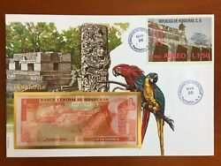 Amazing First Day Envelope With Typical Figures Stamps And Note Honduras 1992