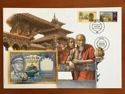 Amazing First Day Envelope With Typical Figures Stamps And Note Nepal 1989