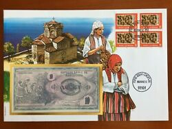Amazing First Day Envelope With Typical Figures Stamps And Note Macedonia 1993