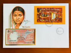 Amazing First Day Envelope With Typical Figures Stamps And Note Sri Lanka 1986