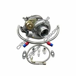 T61 Turbo Chargeur+huile Kit Toyota Pour 86-92 Supra Mk3 Mk 3 7mgte Mise Ct2