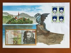Amazing First Day Envelope With Typical Figures Stamps And Note Slovenija 1993