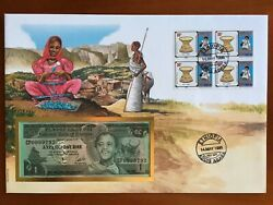 Amazing First Day Envelope With Typical Figures Stamps And Note Ethiopia 1996