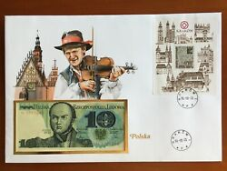 Amazing First Day Envelope With Typical Figures Stamps And Note Polska 1985