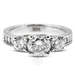1.72 Ct F Vs2 Round Natural Certified Diamonds 14k Gold Classic Engagement Ring