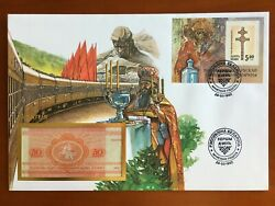 Amazing First Day Envelope With Typical Figures Stamps And Note Belarus 1993