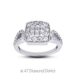 1 1/2ct Tw E Vs1 Round Cut Earth Mined Certified Diamonds 18k Gold Womenand039s Ring