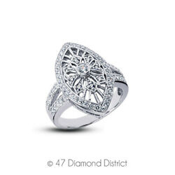 3/4ct Tw F Vs1 Round Cut Earth Mined Certified Diamonds 14k Gold Womenand039s Ring