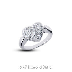 3/4ct Tw E Vs1 Round Cut Earth Mined Certified Diamonds 950 Plt. Fashion Ring