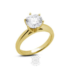 1.05ct H Si1 Round Natural Certified Diamond 14k Gold Solitaire Engagement Ring