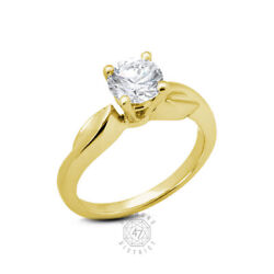 0.64ct K-vs1 Round Natural Diamond 14k Gold Vintage Solitaire Engagement Ring