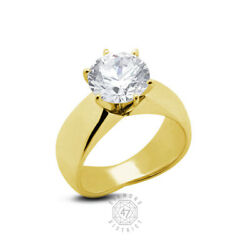 0.73ct G Si1 Round Natural Certified Diamond 18k Gold Solitaire Engagement Ring
