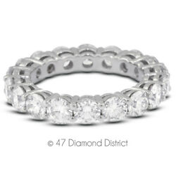2ct Tw F Vs2 Round Brilliant Natural Certified Diamonds 18k Gold Eternity Band