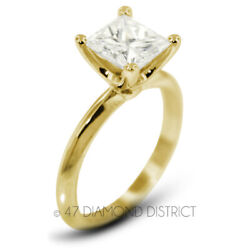 1.04ct D Si1 Radiant Natural Diamond 18k Gold Classic Solitaire Engagement Ring